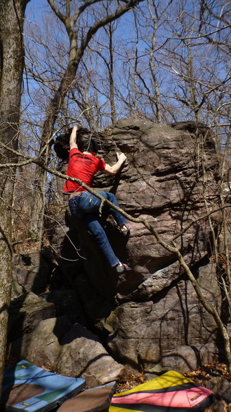 Rock Climbing Photo: Hitting the top.
