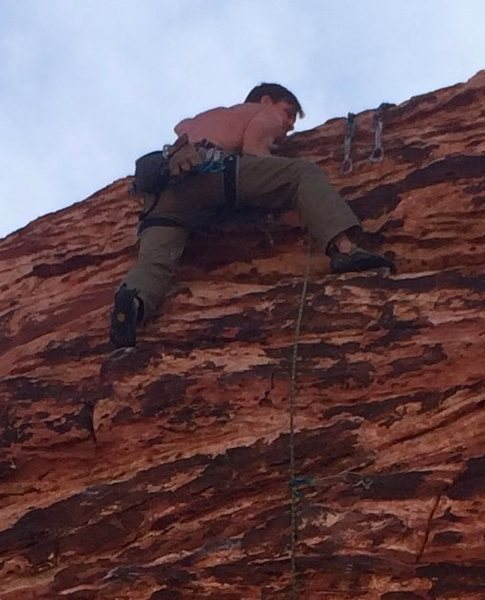 Rock Climbing Photo: Scott topping out, Cat Walk clean lead & send; 05-...
