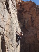 Rock Climbing Photo: Michael Goodhue just past the crux.