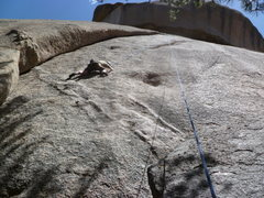 Rock Climbing Photo: On the lower half of the climb.  A top rope lap.  ...
