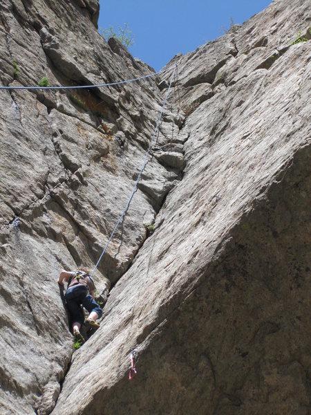 Rock Climbing Photo: Kiran in the dihedral.