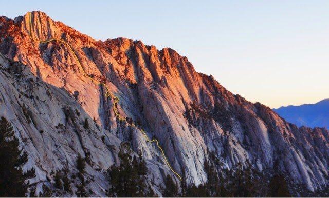 Rock Climbing Photo: Ummagumma follows the yellow line. Photo by Myles ...