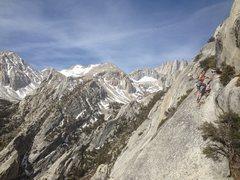 "Rock Climbing Photo: Myles on the ""Fresh Air Traverse'"