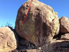 Rock Climbing Photo: Dark Star follows the red line.
