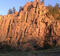 Rock Climbing Photo: Early morning light on the upper wall of Harmel's....