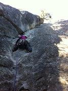 Rock Climbing Photo: starting up after 6