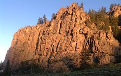 Rock Climbing Photo: The Upper Wall at sunrise.