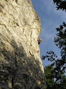 Rock Climbing Photo: Kasie on the porcelain arete