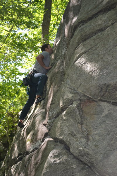 Rock Climbing Photo: Ryan working his way up