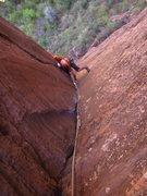 Rock Climbing Photo: Mac following P1 on Shune's Buttress.   Photo: Cor...