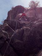 Rock Climbing Photo: Glen on the crux bulge.