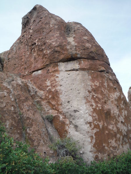 Rock Climbing Photo: The route starts in the white area