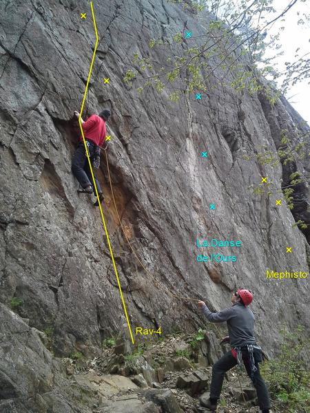 Rock Climbing Photo: Peter on Rav-4