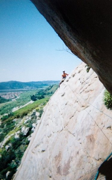 Rock Climbing Photo: Half way through this great multi pitch route!