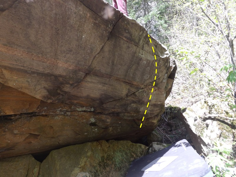 Rock Climbing Photo: Backside of the Phobia Boulder, Fear of Porcupines...