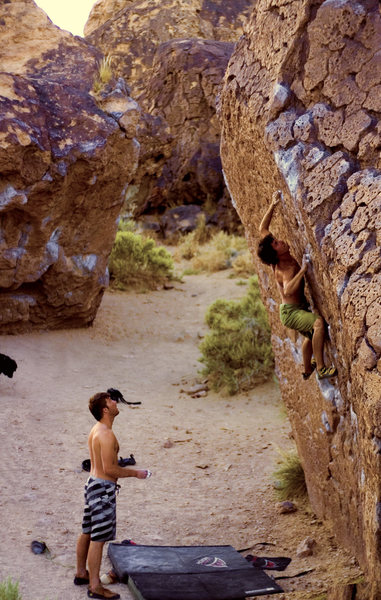 Jorge eyeing the crux