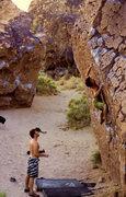Rock Climbing Photo: Jorge eyeing the crux
