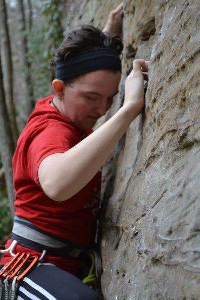 Rock Climbing Photo: RRG--some slabby lead I wasn't crazy about