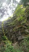 Rock Climbing Photo: Lower 4th class portion