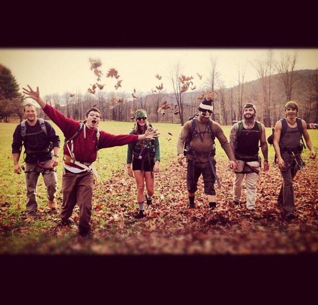 Rock Climbing Photo: Some of the Rattlesnake crew! -Nate making magic