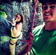 Rock Climbing Photo: Lowering off, Great climbs