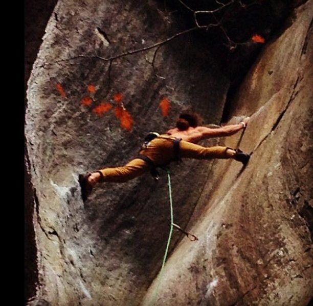 Rock Climbing Photo: Pullin on Flyin Hawaiin
