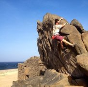 """Rock Climbing Photo: """"Out of Your Mine - V1 R"""" FA; the pristi..."""