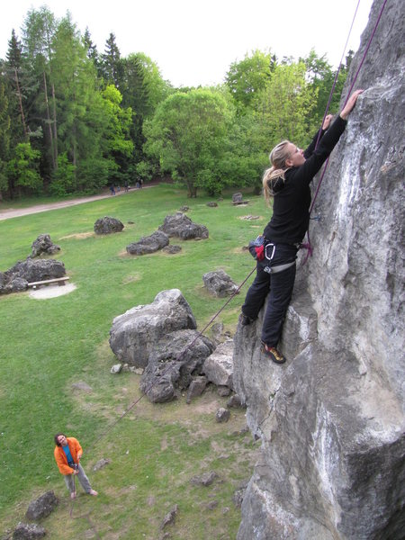 Rock Climbing Photo: Fanny in Kante, with a nice view of the grassy law...