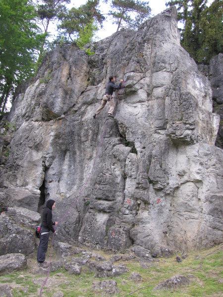 Rock Climbing Photo: Jonas in Linker Riss