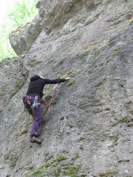 Fanny, about to enter the crux of Flop.