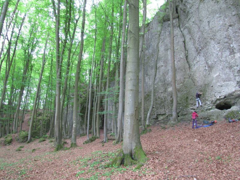 Rock Climbing Photo: Another view of Hartensteiner Wand, taken from the...