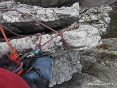 Rock Climbing Photo: Belay on top of West Pole