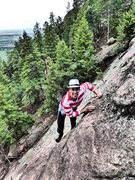 Rock Climbing Photo: Another costumed day in the Flatirons.