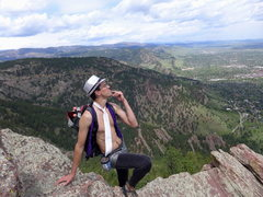 Rock Climbing Photo: Contemplating life (and sequins).