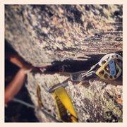 Rock Climbing Photo: Rico enjoying the splitter of Babylon.