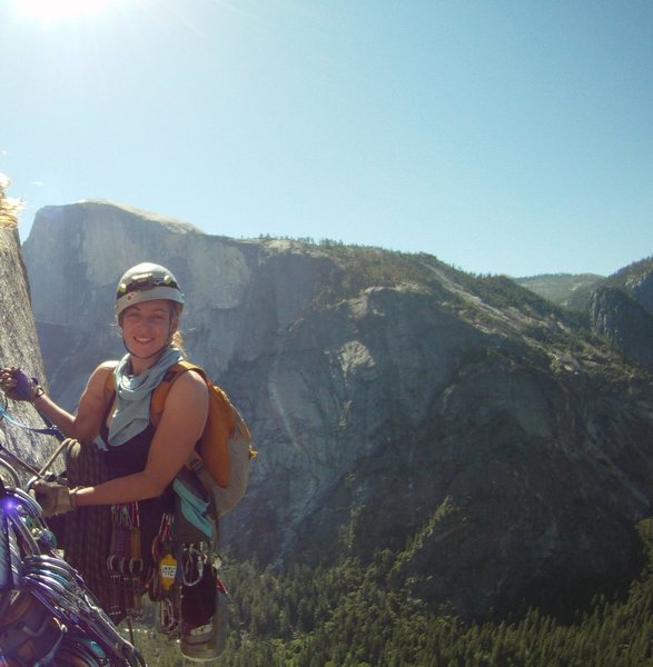 Rock Climbing Photo: wearing my helmet well on the south face of the co...