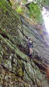 Rock Climbing Photo: Leading Laceration