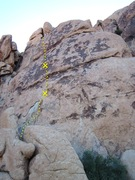 Rock Climbing Photo: Blackheart route line with bolts