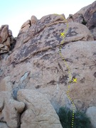 Rock Climbing Photo: Blackout route line and bolts.