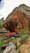 Rock Climbing Photo: Staring down the crux move to the lip on Amp Up An...