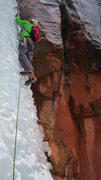 Rock Climbing Photo: 1st ice step, leading into the canyon