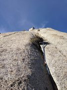 Rock Climbing Photo:  top of the becky route, Whitney Portal