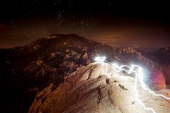 Rock Climbing Photo: Top of lizard rock at night