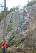 Rock Climbing Photo: Antre du Dragon Left and center