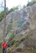 Rock Climbing Photo: Antre du Dragon Left and center