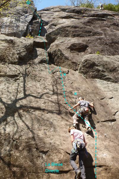Rock Climbing Photo: La Bleue Directe