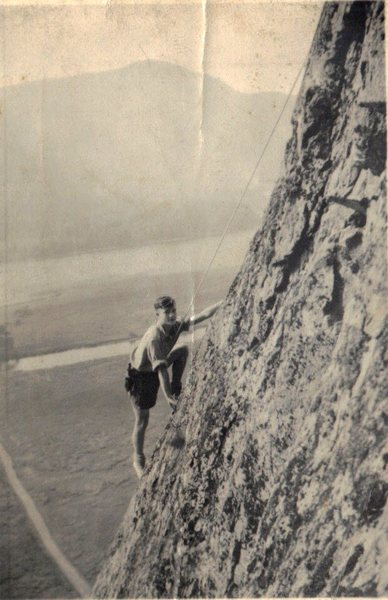 Rock Climbing Photo: Brown Slabs 1953