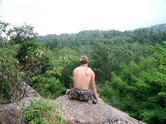 Rock Climbing Photo: On top of Suicide Bowl, Marquette, MI