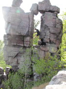Rock Climbing Photo: Devil's Doorway, Devil's Lake, WI