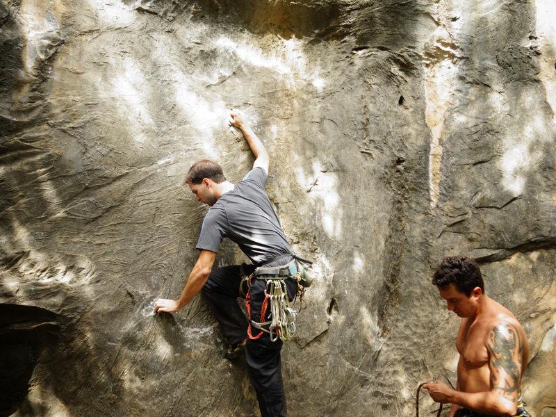 "Rock Climbing Photo: ""Sem Compromisso"" 5.11a"